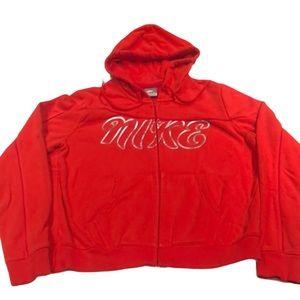 Nike Full Zip Hoodie Metallic Lettering